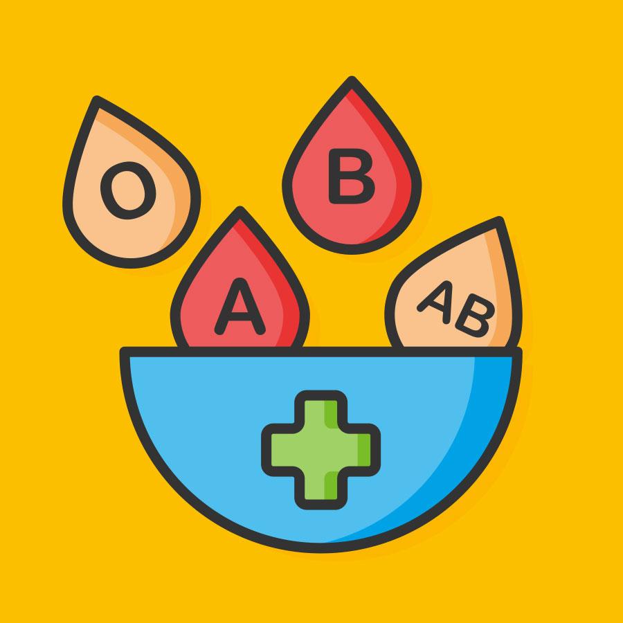 Blutgruppenbestimmung mit Ausweis