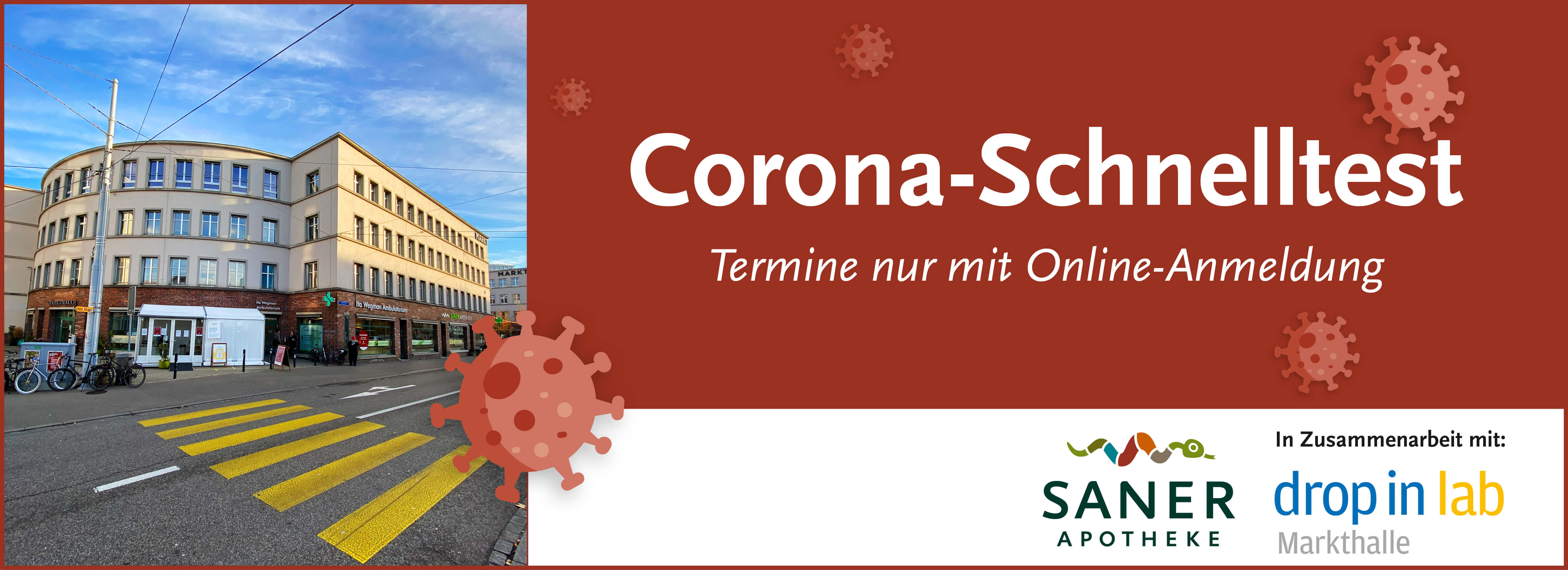Corona-Test (ausschliesslich mit Online-Terminbuchung)